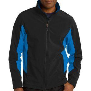 Port Authority Men Black Blue Rain Full Zip Jacket